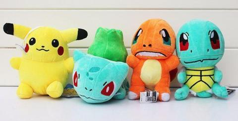 Pelucia Pokemon Pikachu Squirtle Bulbasaur Charmander Music