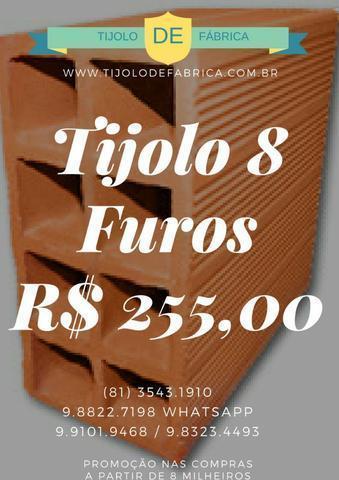 Garanta a economia de sua obra comprando tijolo direto de fábrica 255,00