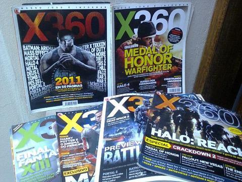 Lote 27 Revistas X360 - Xbox 360 - Playstation Oficial