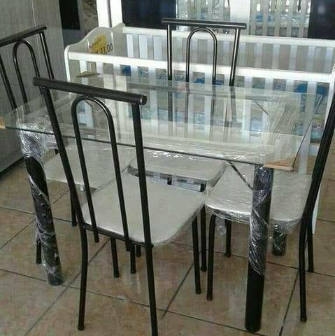 Conjunto de mesa tubular (Novo)