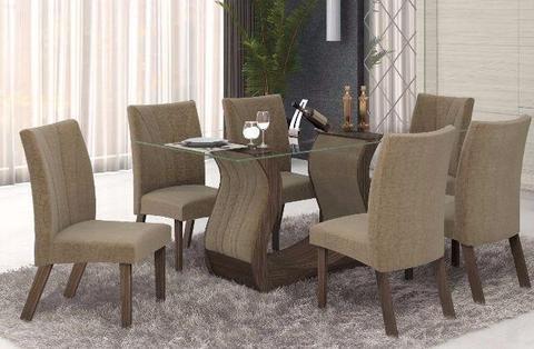Mesa de Jantar 06 Cadeiras Fortuna zap 62 99354-9977
