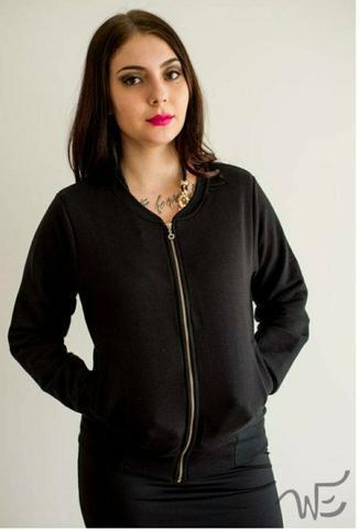 Jaqueta preta de algodão