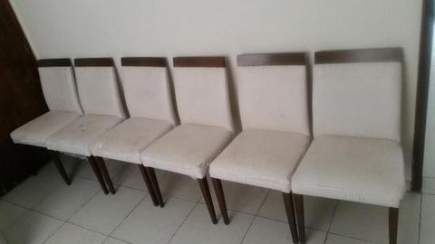 Jogo 6 cadeiras super luxo, precisando reforma