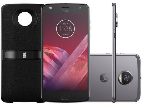 Smartphone Motorola Moto Z2 Play Sound Edition - 64GB Platinum Dual Chip 4G Câm. 12MP + Se