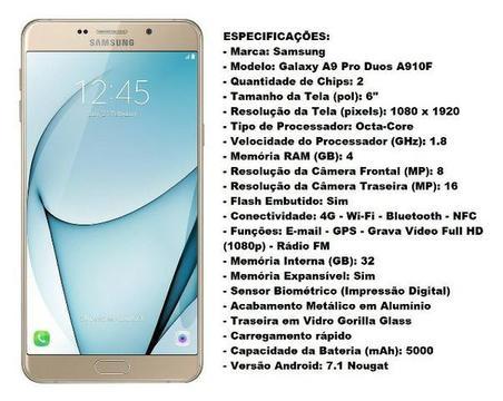 Samsung Galaxy A9 Pro Duos A910F