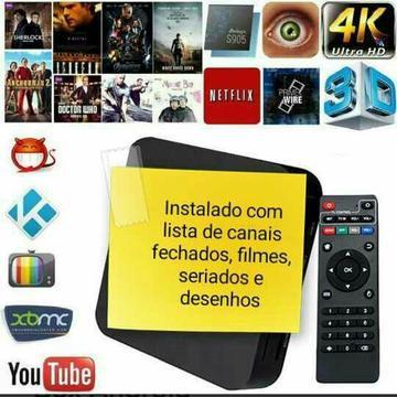 TV BOX Android configurado em Português