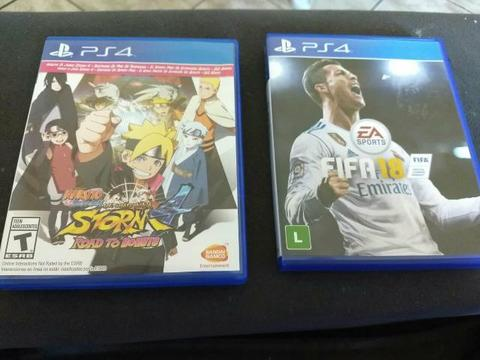 Naruto road to boruto e Fifa 18 ps4