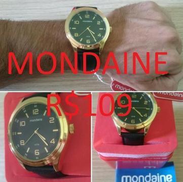 Relógio Original Luxo Mondaine Dourado (6 meses garantia) - Ninguém tem! Parcele!