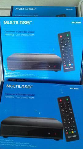 Conversor digital zerado na caixa acompanha à antena !!!