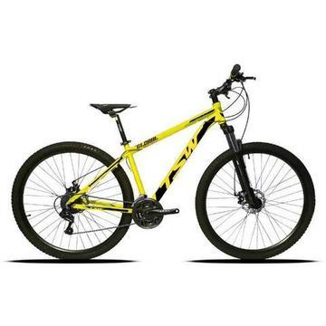 Bicicleta TSW Aro 29 Suspensão c/ Trava 24V Câmbio Shimano Freio Hidráulico
