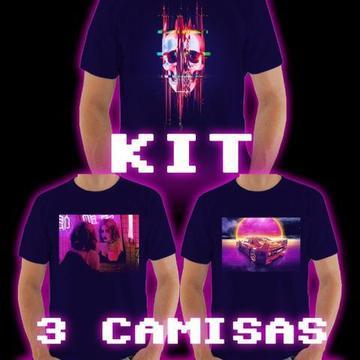 Kit C/3,4 ou 5 Un Camiseta Personalizada Estampa Unissex Retro a partir de R$99,00!