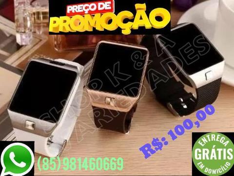 Relógio inteligente smartwatch dz09 - Pega chip/ cartão memória / VÁRIAS CORES