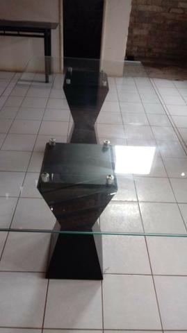 Mesa tampo de vidro 08 lugares