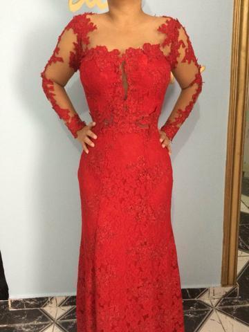 Alugo vestido de festa vermelho