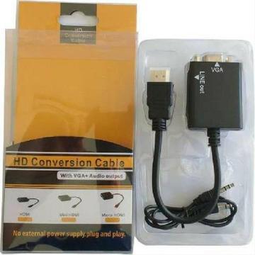 Conversor Hdmi P/ Vga Pc Xbox Ps3 Tv