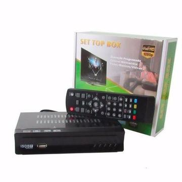 Conversor Set Top Box Receptor Tv Digital Gravador 2 entradas USB