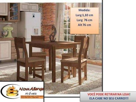 Se preferir retire na loja!Chame 97970-4415 Mesa Dallas com 4 cadeiras- confira modelos!!!