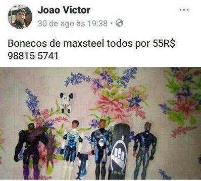 Bonecos max stell inf na ft compra na moral