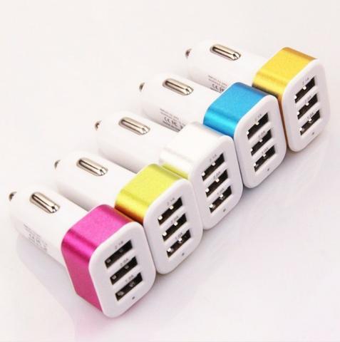 Carregador Para Carro Gopro Auto Charger tripo (3 Saida USB) Super Potente