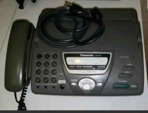 Telefone com fax e secretária eletrônica