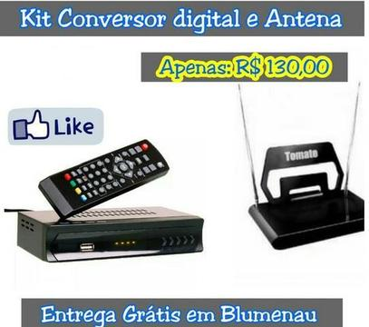 Kit conversor digital + Antena Digital Interna