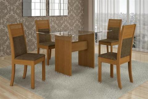 Mesa Ravy 4 cadeiras 1,20x80 - eja cores e modelos what97035-0669 Receba Já!