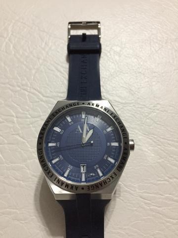 Relógio Armani Exchange original masculino azul marinho