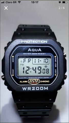 Relógio da Marca Agua=Casio Série Prata Original a Prova Dágua