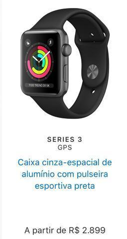 Apple Watch Série 3, GPS, Celular, 42mm (novo)