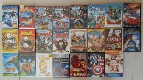 DVDs usados - Pacote c/ 23 DVDs - Infantil