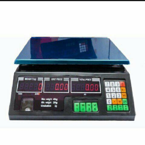 Balança Comercial Eletrônica Digital 40 kg Alta Precisão Completa - Nova na Caixa