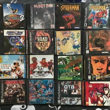 Lote Jogos Prensados PS One Aceito Trocas em Jogos de PS4 e Xbox One