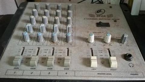 Mesa de som de 4 canal