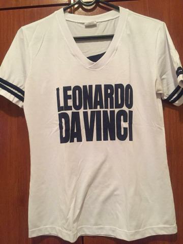 3 camisetas femininas Leonardo da Vinci
