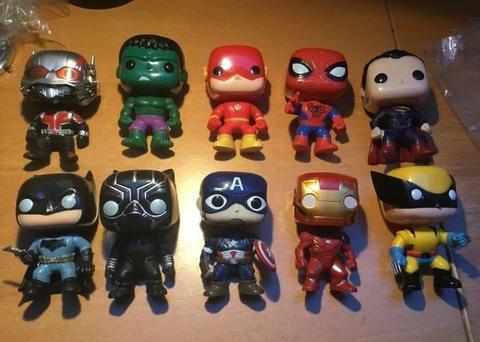 Funko Pop colecionáveis vários modelos Marvel e DC comics