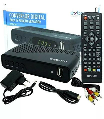 Receptor Conversor Tv Digital Full Hd Função Gravador Exbom