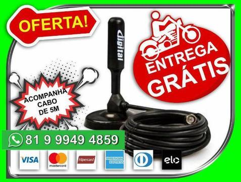 E.n.t.r.e.g.o-G.r.a.t.i.s Antena Digital Hd FullHd Cabo 5m