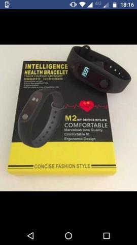 Bracelete M2 Com Freqüência Cardíaca, Relógio Inteligente