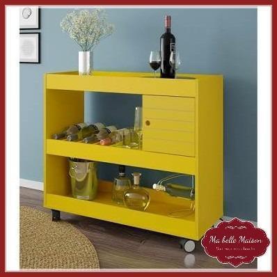 Aparador/Bar Contemporâneo - Amarelo