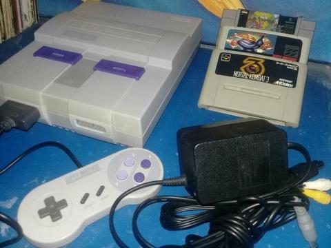 Super Nintendo Classico90 Original Americano Versao Branquinho Lindissimo+3jogaços