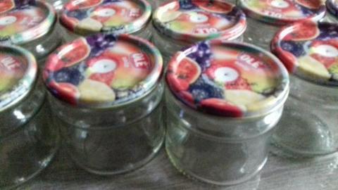 15 potes de geleia com tampa para artesanato