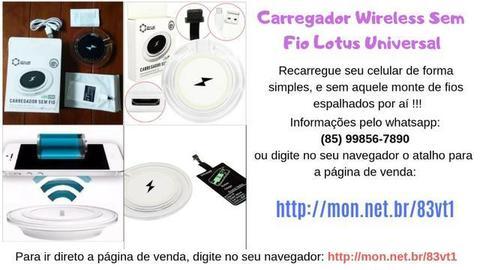 Carregador Wireless Sem Fio Lotus Universal Iphone