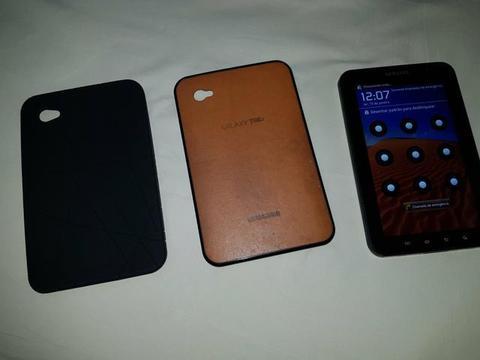 Galaxy Tab P1000 TV ótimo estado + case + 2 Capas 1 preta e 1 Marrom