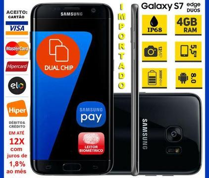 Galaxy S7 Edge Duos 4G 32GB, Octa Core, 4GB Ram, Tela 5.5