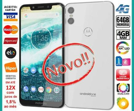 Motorola One 64GB Octa Core, 4GB Ram, Tela 5.9