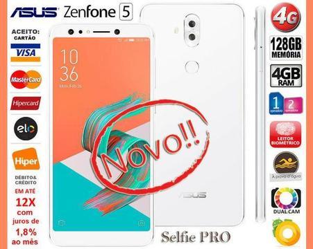 Zenfone 5 Selfie Pro Octa Core 128GB, 4GB Ram, Tela 6.0, Dual Câm, Novo, Cx, NF, Gar Troco