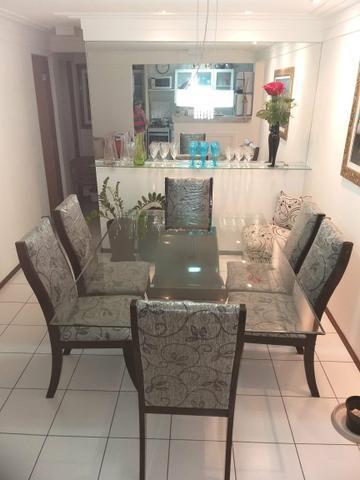 Linda mesa de jantar 6 cadeiras novinha estilosa ! oportunidade