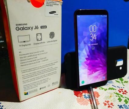 Galaxy j6 32GB violeta completo (  MG)