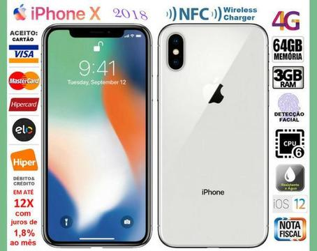 IPhone X 64GB Hexa Core, 3GB Ram, Tela 5.8