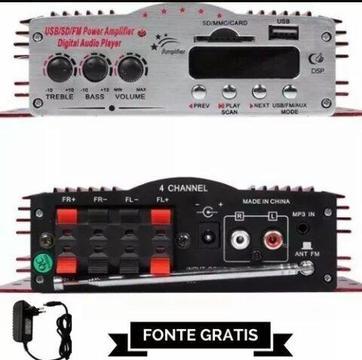 Módulo amplificador kinter 4 canais